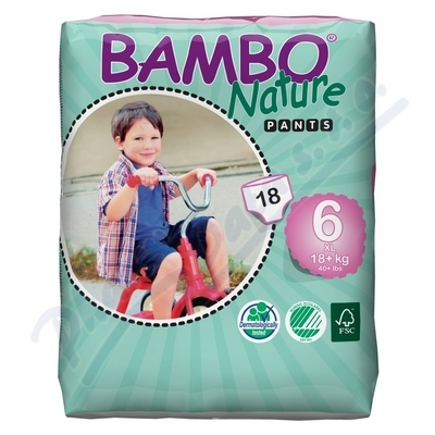 BAMBO Nature Pants XL navl.plen.k.trénink 18ks
